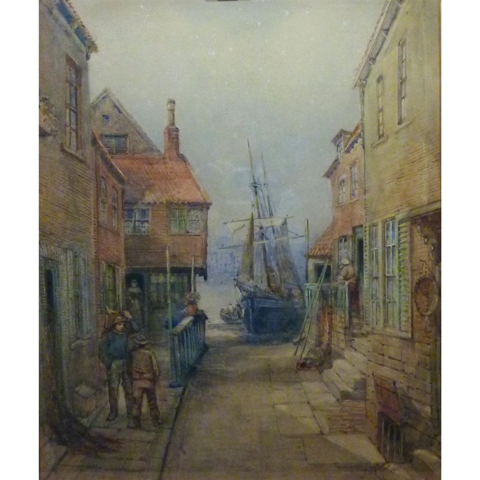 Frederick William Booty (British 1840-1924): Tin Ghaut Whitby