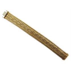 9ct gold wheat chain bracelet, hallmarked, approx 37.2gm