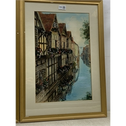 S J 'Toby' Nash (British 1891-1960): The Weaver's House and Mercery Lane Canterbury, pair watercolours signed 45cm x 28cm (2)