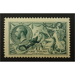 Great Britain King George V (1913) mint one pound 'seahorse', S.G.403