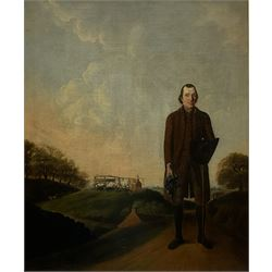 Benjamin Killingbeck (British 1769-1789): Portrait of a Mine Owner, the Mine with Working Horses beyond, oil on canvas signed (l.l.) and dated 1772, 72cm x 60cm Provenance: East Yorks. private collection; Tom Laughton of Scarborough - his sale Sotheby's 18th March 1964 Lot 49 Literature: Ellis Waterhouse, Dictionary of British 18th century Painters in oils and Crayons 1981, p.206 illus