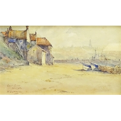 W Guymer (British exh.1921): 'East Cliff Whitby', watercolour signed and titled 13cm x 23cm Notes: Guymer is listed as living at 231 Marton Road, Middlesbrough