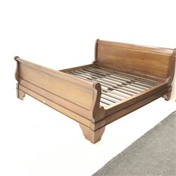 French mahogany 6' Super King sleigh bed, W199cm, H99cm, L220cm