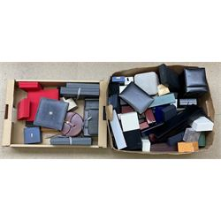 A collection of assorted jewellery boxes.