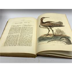 Edwards (George). Natural History of Uncommon Birds, and of Some Other Rare and Undescribed Animals... Exhibited in two hundred and ten copper plates, from designs copied immediately from nature, and curiously coloured after life... to which is added, a brief and general idea of drawing and painting in water-colours; with instructions for etching on copper with aquafortis: likewise some thoughts on the passage of birds; and additions to many of the subjects described in this work, 4 volumes, printed for Author, at the College of Physicians, in Warwick-Lane, 1743-51, & Gleanings of Natural History, exhibiting figures of quadrupeds, birds, insects, plants &c. most of which have not, till now, been either figured or described, 3 volumes, printed for the author, at the Royal College of Physicians, in Warwick-Lane, 1758-64, 7 volumes in all, containing 362 fine hand-coloured copper engraved plates (210 and 152 plates respectively to each work), uncoloured engraved portrait of the author by Johann Sebastian Muller after Bartholomew Dandridge, the three volumes of Gleanings of Natural History with parallel English and French printed text in double column, marbled endpapers, bookplate of William Hudson Hulme Hall Cheadle Hulme to front pastedown of each volume, contemporary uniform full red leather, with patterned outer border to each cover, panelled spines and all edges gilt, 4to (29 x 24 cm) (7) A fine set in contemporary uniform binding of 'one of the most important of all bird books, both as a fine bird book and a work of ornithology' (Sitwell, Fine Bird Books). The father of British ornithology, George Edwards (1694-1773) was appointed librarian at the College of Physicians, with the assistance of Sir Hans Sloane, who also employed him to draw curiosities from his own collection. These drawings, as well as others made by Edwards from the collections of his circle, including Mark Catesby, and the Dutchman Gideon Loten, formed the basis of his Natural History. Amongst th