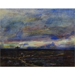 Rowland Henry Hill (Staithes Group 1873-1952): Moorland Cross Roads above Lealholm, watercolour signed and dated 1923, 24cm x 30cm