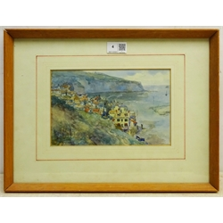 James Ulric Walmsley (British 1860-1954): Robin Hood's Bay, watercolour signed and dated 1905, 14.5cm x 23cm