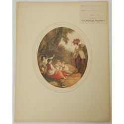 After William Hamilton RA (British 1751-1801): 'Morning Noon Evening and Night', set four colour stipple engravings by William J Allingham signed in pencil 32cm x 27cm (4) (unframed)  Provenance: pub. GJ Howell, Museum Galleries, London 1919