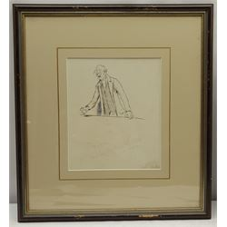 Cecil Aldin (British 1870-1935): 'What Iver ye do, Always Cast Forrard for a Fox' - Gentleman Making a Speech, pen and ink unsigned, titled and inscribed 'Chap LXVIII' in pencil 23cm x 19cm  Provenance: purchased by the vendor from Cumbria Auction Rooms 14th May 1990, lot 433, where part of a collection of fifteen then-unmounted Aldin book illustrations