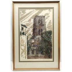 Norman Wade (British 20th century): 'Cathedral 5', silkscreen signed titled numbered 40/150 and dated '75 in pencil 55cm x 34cm