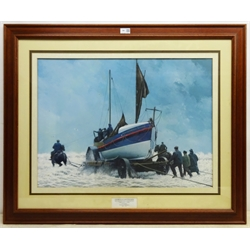 John Cooper (British 1942-): Lifeboat Portrait - Bridlington Quay Lifeboat the 'George & Jane Walker', gouache signed 51cm x 69cm Notes: the 'George & Jane Walker' was built at Thames Ironworks of Blackwall in 1899 using a legacy of Mr George Walker of Southport. Stationed at Bridlington 1899-1931
