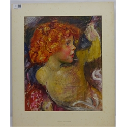 Annie Louisa Robinson Swynnerton NEAC (British 1844-1933): Half length Portrait of a Child with Red Hair, oil on canvas laid on board unsigned 40cm x 33cm (unframed) Provenance: by family decent from the collection of Francis Bate (1853-1950) a founder member treasurer and secretary of the New English Art Club