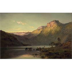 Alfred de Bréanski Snr. RBA (British 1852-1928): 'A September Sunset', oil on canvas signed, titled and signed verso 49cm x 74cm