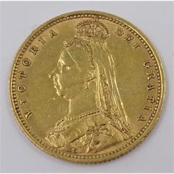 Queen Victoria 1892 gold half sovereign