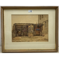 Fred Lawson (British 1888-1968): Dales Cart-shed, watercolour signed 27cm x 36cm