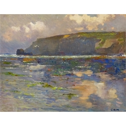 Campbell Archibald Mellon (British 1876-1955): 'Off Cromer', oil on board signed with initials by a later hand, titled verso 28cm x 36cm