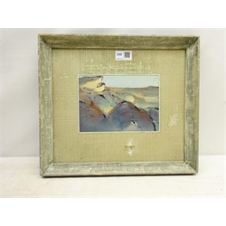 Ewald Matare (German 1887-1965): Abstract Landscape, watercolour signed with initials and dated '26, inscribed and dated 1926 verso with Studio Stamp 14cm x 19.5cm  DDS - Artist's resale rights may apply to this lot