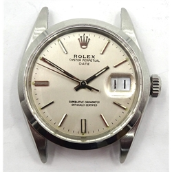 Rolex Oyster Perpetual Date gentleman's stainless steel wristwatch c.1970/1, model no. 1500, serial no. 2559273