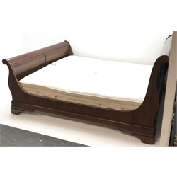 'The Normandie Collection' French cherry wood 6' superkingsize bedstead with mattress, retailed by John Lewis