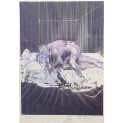 Francis Bacon (British 1909-1992): 'Two Figures 1953', artist's proof lithograph signed and marked e.a. in pencil 41cm x 28cm Provenance: with Belmain Antiques, Ripon; Robert Simms Hampstead. J Y Poucher, Vernon, France, label verso