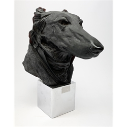 A Daum crystal Dandys Andrew Greyhound, designed by Jean-Francois Leroy, limited edition no 21/500, H35cm W30cm.