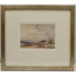 Peter Gilman (British 1928-1984): 'Towards Whitby', watercolour signed, titled and dated 1981 on exhibition label verso 12cm x 17cm  Notes: illustrated in 'Peter Gilman: Painting East Anglia and Beyond' p.85