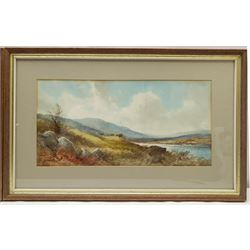 English School (Early 20th century): Scottish Landscapes, pair watercolours indistinctly signed 20cm x 40cm