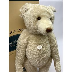 Steiff 1994 limited edition 'Teddy Bear 1908' in white with growler mechanism, No.1898/7000, H26