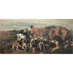 John Emms (British 1843-1912): 'Gone to Ground', oil on canvas signed 75cm x 152cm Provenance: purchased by the vendor Sotheby's 6th November 1991 Lot 86