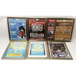 Scarborough Beached Festival - six consecutive framed posters from the years 2003-2008, and a further promotional poster from 2006, max 40cm x 30cm (7)