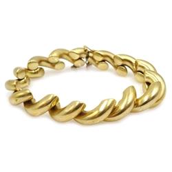 Gold half hoop bracelet stamped 14kt, 24.4gm