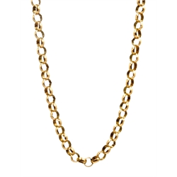 Gold belcher chain necklace the later clasp hallmarked 9ct approx 17.2gm