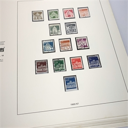 'Safe Album' printed pages 'Bundesrepublik Deutschland' West Germany, stamps from 1949 - 1972, mostly complete with a few gaps, mint and used