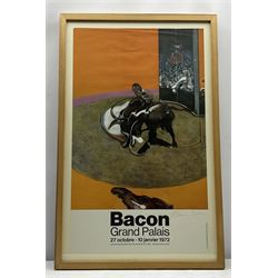 Francis Bacon (British 1909-1992): Exhibition Poster - 'Bacon Grand Palais 1972', signed in red, printed Gordon House/Wolfensberger/Switzerland 72cm x 43cm Provenance: with David Duggleby Ltd 16th March 2015, Lot 292; given to the late Cavan O'Brien of Bridlington/London who worked at the Marlborough Gallery Old Bond Street