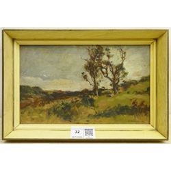 Frederic William Jackson (Staithes Group 1859-1918): Trees in Landscape, oil on board signed 13cm x 21cm