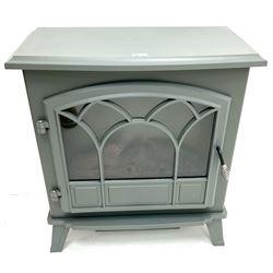 Dunelm 30282091 grey finish electric stove