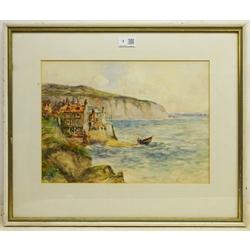 James Ulric Walmsley (British 1860-1954): Robin Hoods Bay, watercolour signed 28cm x 38cm