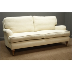 Sofa.com 'Bluebell' three seat sofa, upholstered in undyed Highland tweed, W190cm