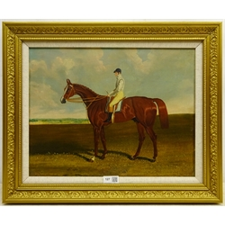 Circle of John Frederick Herring Snr. (British 1795-1865): 'Harkaway' - Race Horse Portrait, oil on canvas unsigned 32cm x 42cm Notes: Harkaway a chestnut colt (1834-1859) was one of the nineteenth century's great racehorses, although he never contended for a classic race, and spent more time on the Irish turf than on England's racecourses. Referred to more than once as