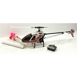 JR PROPO Ergo60 nitro model helicopter with accessories in wooden case