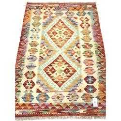 Multi-coloured vegetable dye kilim rug, 133cm x 86cm
