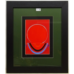 Sir Terry Frost R.A. (British 1915-2003): Untitled, mixed media gouache and collage, inscribed signed and dated April 30th '86 verso 29cm x 20cm